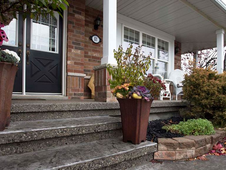 steps and porch